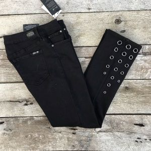 Seven 7 Limited Edition Black Jeans w/Grommets 8